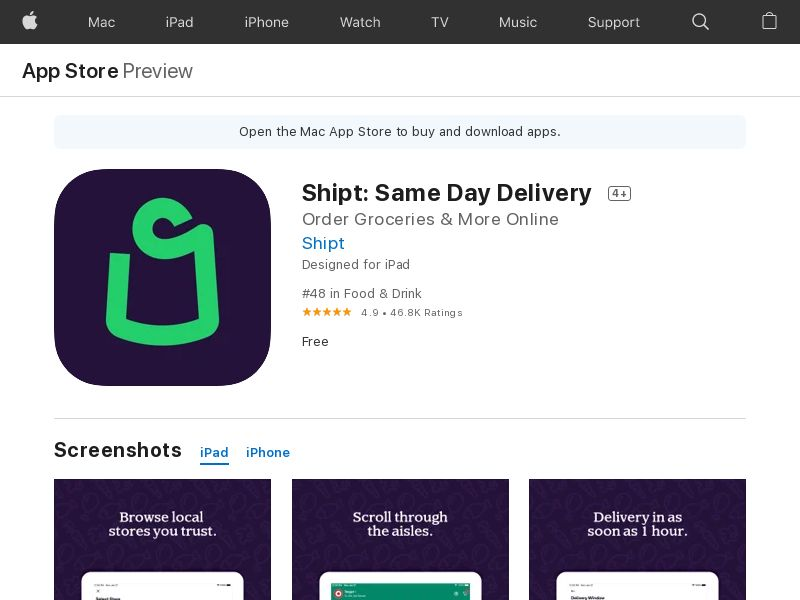 Shipt - United States - iOS APP