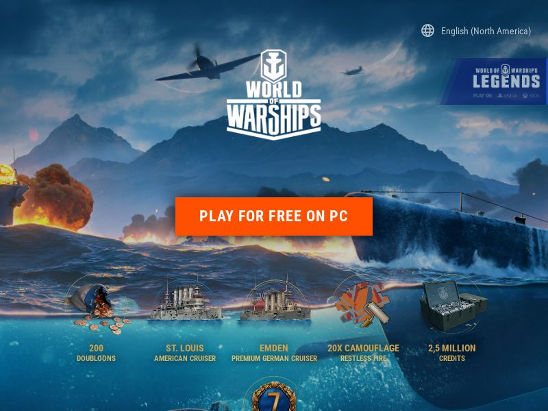 World of Warships (MultiGeo), [CPA], Entertainment, Games, Client games, Single Opt-In, Double Opt-In, game