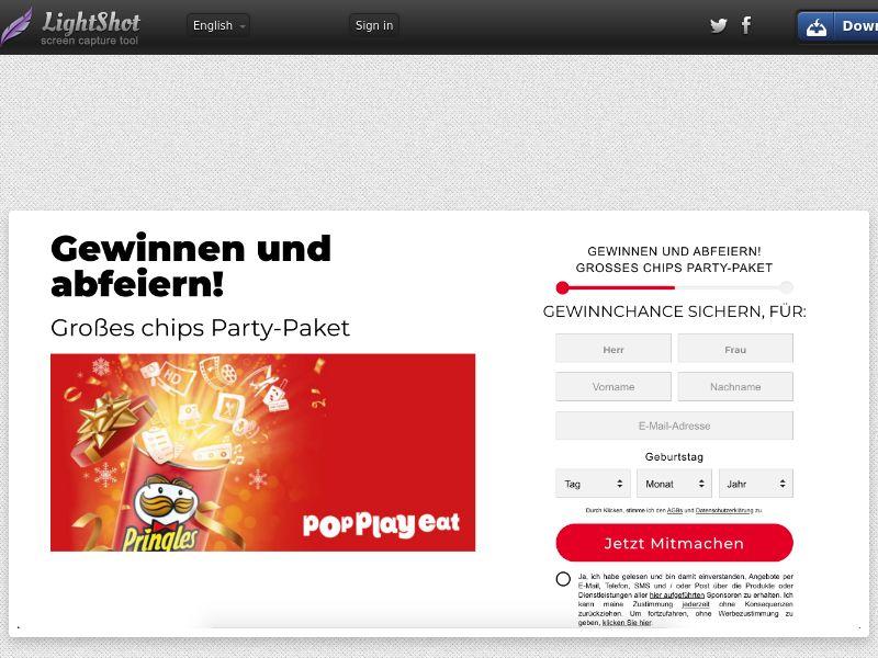Win Pringles Party - DE