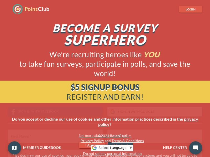 PointClub (US) (CPL) (Incent) (Personal Approval)