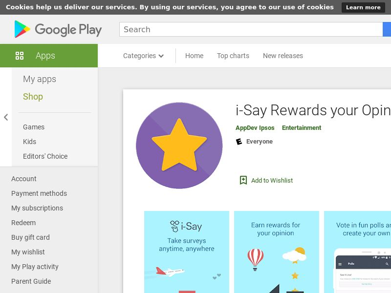 i-Say Rewards your Opinion (Android 8.0+) CA - Non incent