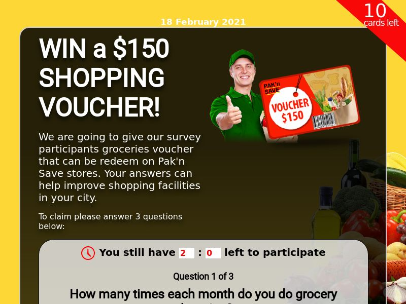 $200 Grocery Gift Card - SOI CPL - [NZ]