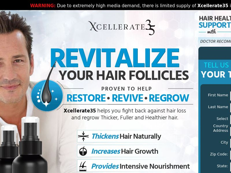 Xcellerate 35 Hair Growth for Men (Trial) (US)