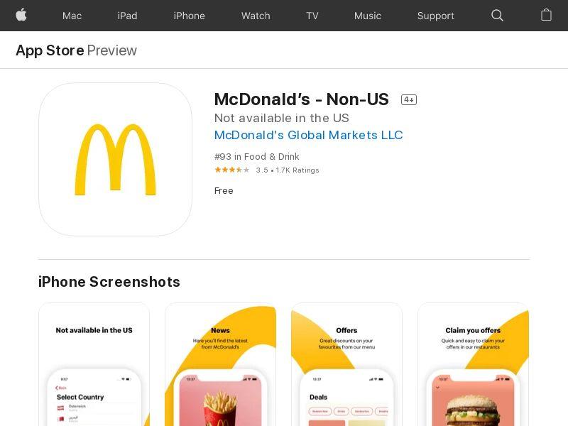 (direct) McDonalds iOS BH