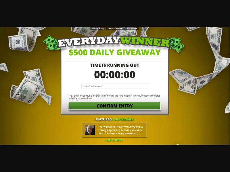 Everyday Winner - CPL SOI - US - Sweepstakes - Responsive