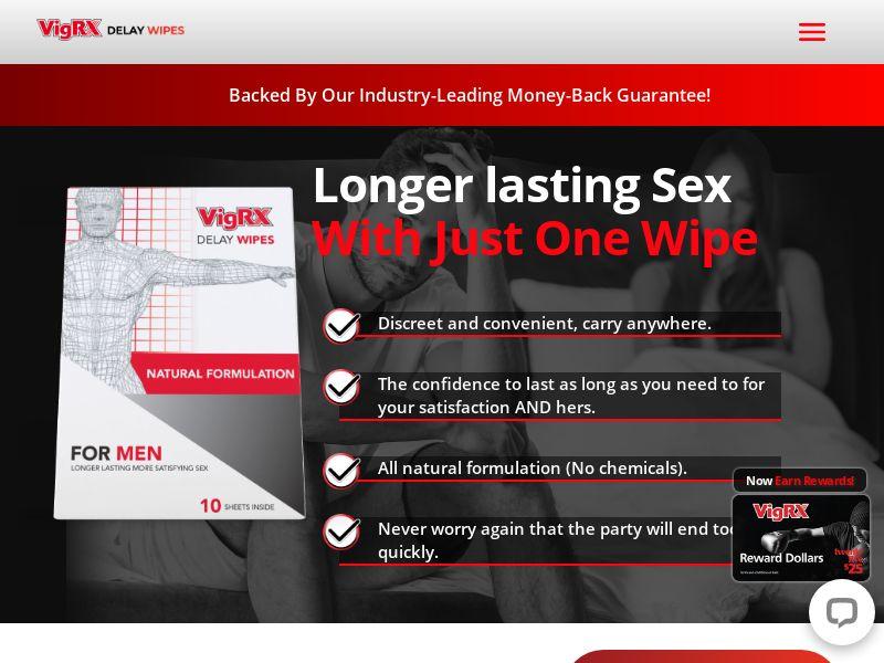 VigRX Delay Wipes