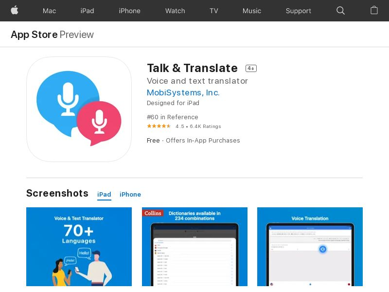 Talk&Translate iOS UK IDFA