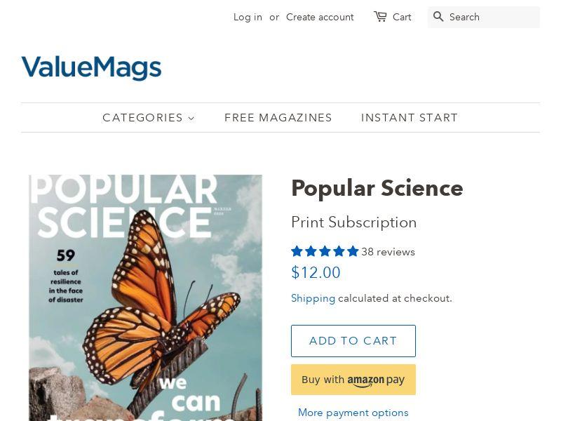 Popular Science Magazine Subscription (75% OFF!) | US