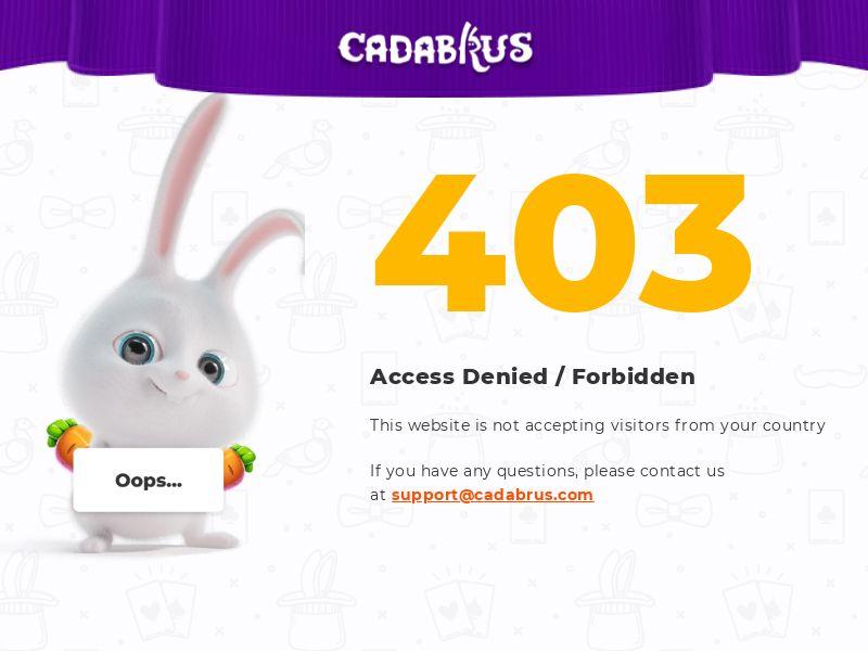 Cadabrus.com Casino CPA - DE, FI, NO, CA, NZ, HU, IT, BR, CZ & PL