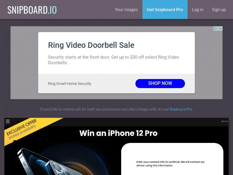YouSweeps - iPhone 12 Pro NZ - SOI