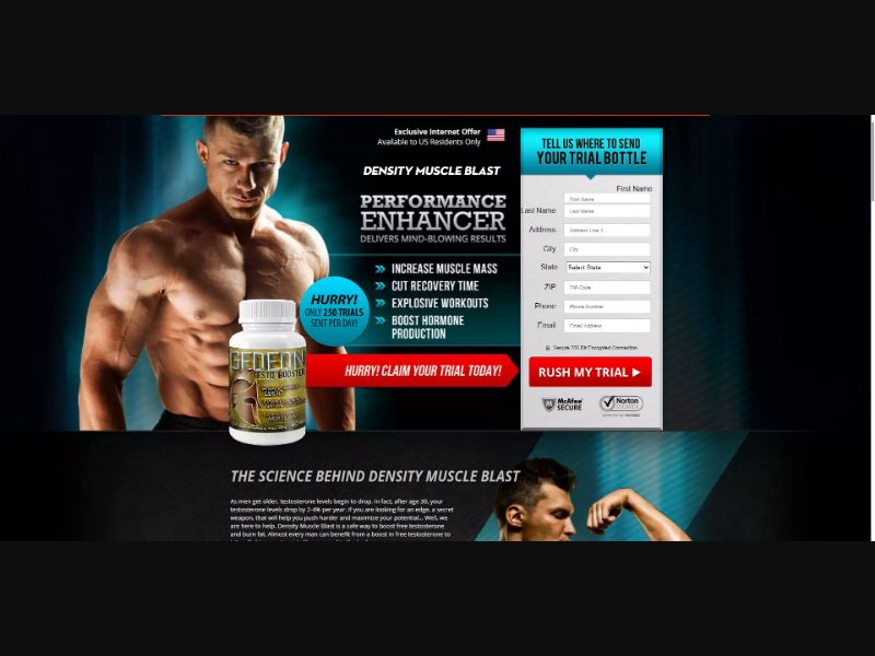 Gedeon Testo Booster - V1 - Muscle Building - Trial - [US]