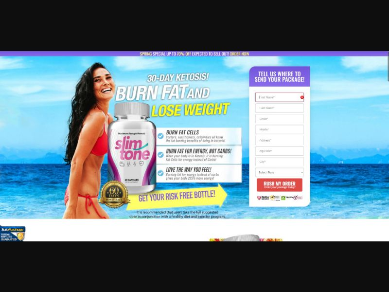 Slim Tone - V2 - Diet & Weight Loss - Trial - [US] - with 1-Click Upsell [Step1 $22.1 / Upsell $20.8]