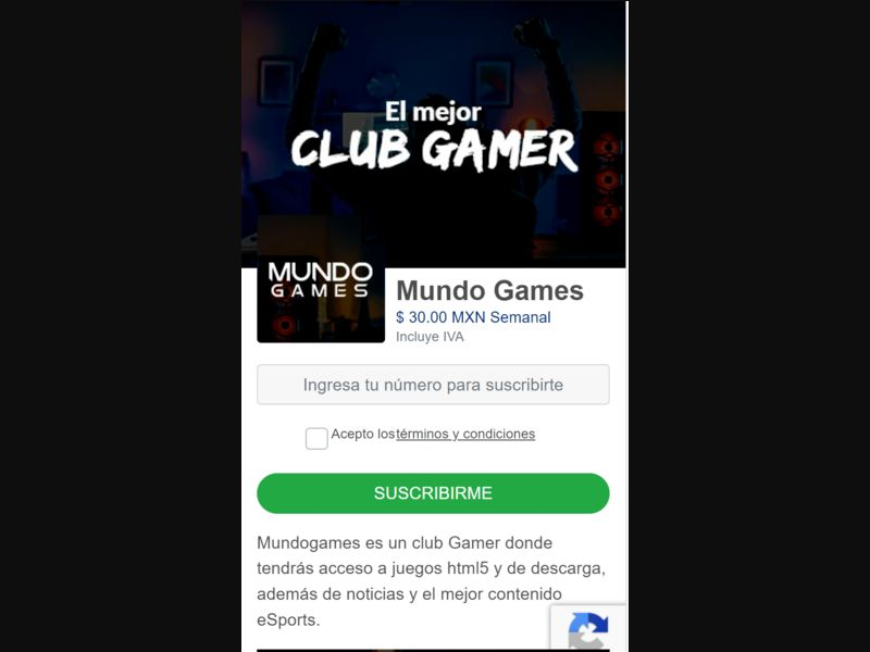 MX - Mundo Games (Telcel only) [MX] - 1 click