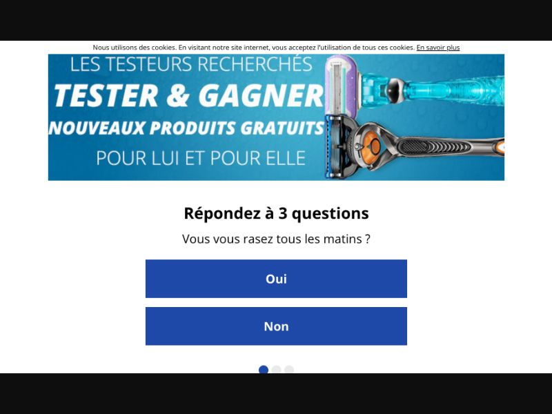 Gillette - CPL SOI - FR - Sweepstakes - Responsive