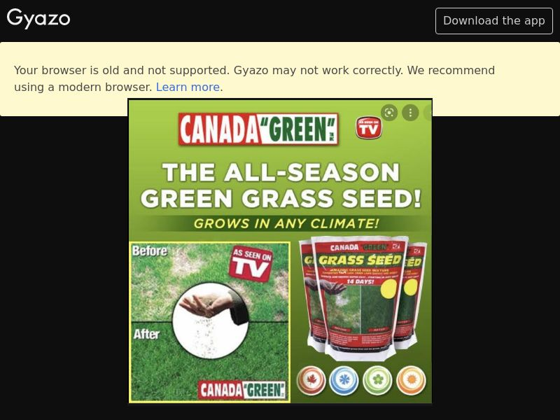 As Seen On TV - Canada Green Grass (US) (CPS) (Email) (Personal Approval)