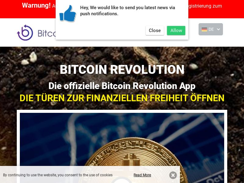Bitcoin Revolution - DE (DE), [CPA], Business, Investment platforms, Cryptocurrencies, Deposit Payment, bitcoin, cryptocurrency, finance, money