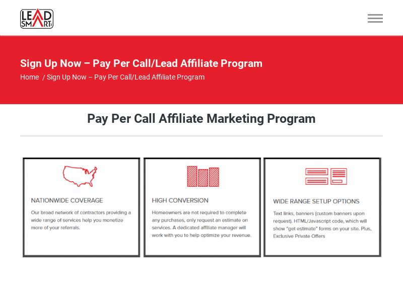 HVAC - Pay Per Call - Revenue Share