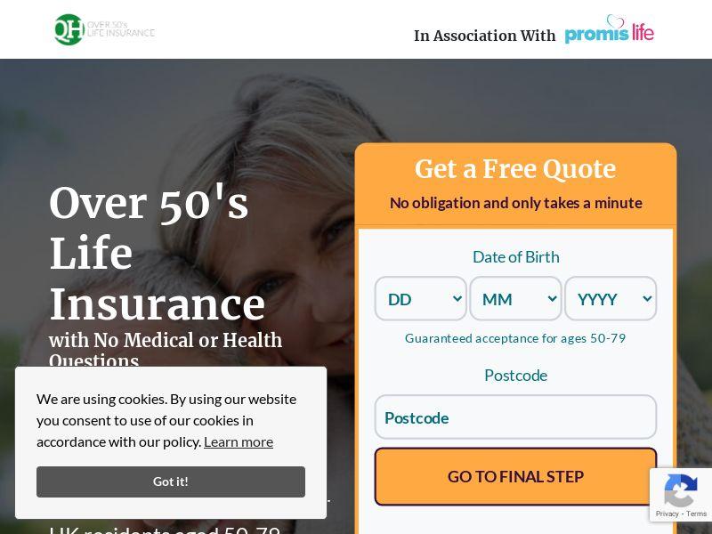 Over 50s Life Insurance - Life - SOI - CPL - UK