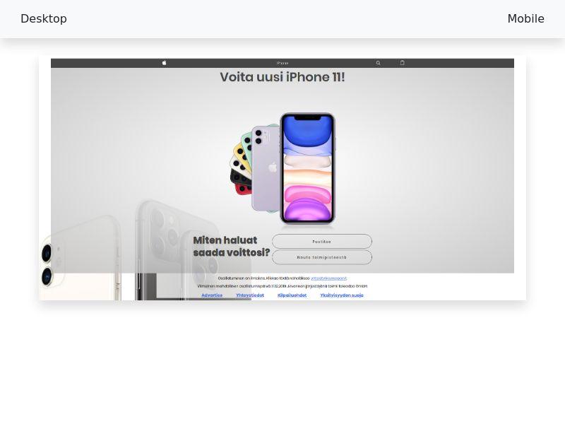 Sweepstake Win iPhone 11 - SOI CPL - [FI]