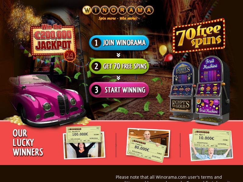 Winorama - IT (IT), [CPA], Gambling, Casino, Deposit Payment, million, lotto
