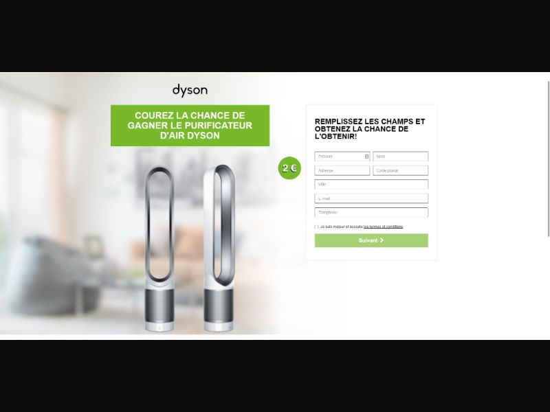 Dyson Air Purifier - Sweepstakes & Surveys - Trial - [FR]