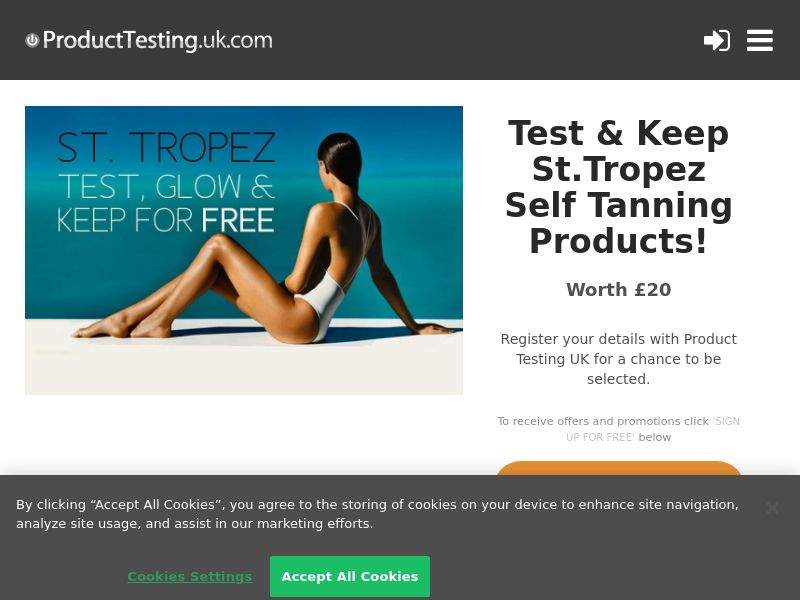Email Submit - St Tropez Self Tan - SOI (UK)