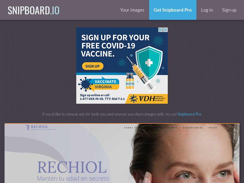41029 - MX - Rechiol anti-aging serum - COD