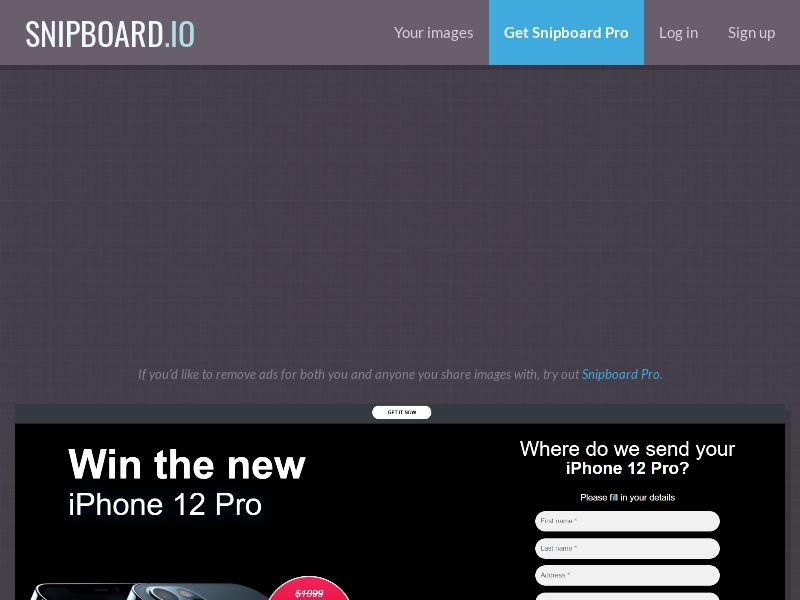 Win iPhone 12 Pro ССSubmit US CA AU NZ 20$