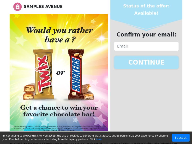 US - Samples Avenue - Chocolate Bar