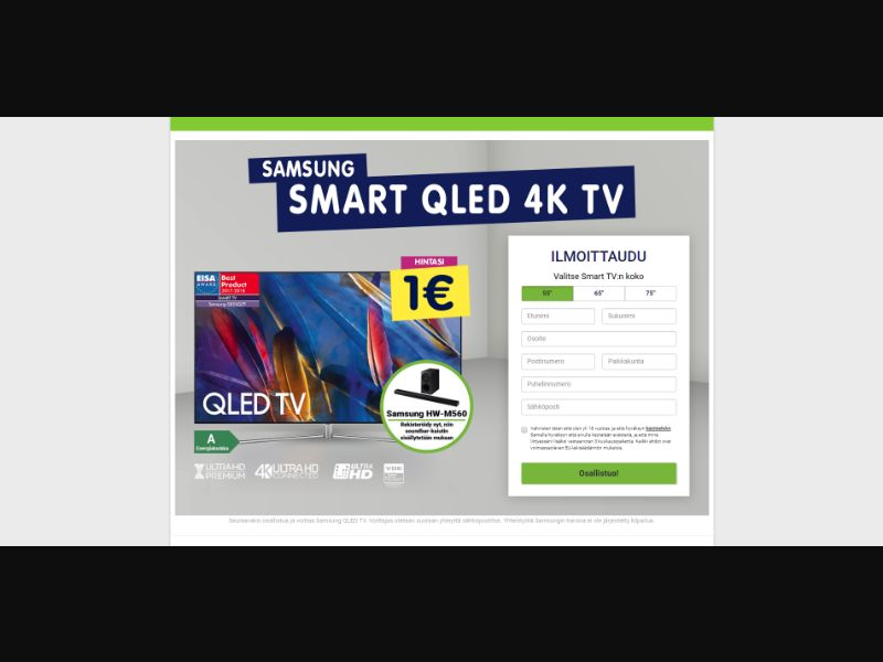 Finland (FI) - PointWorld - Samsung Smart QLED 4K TV (Responsive)