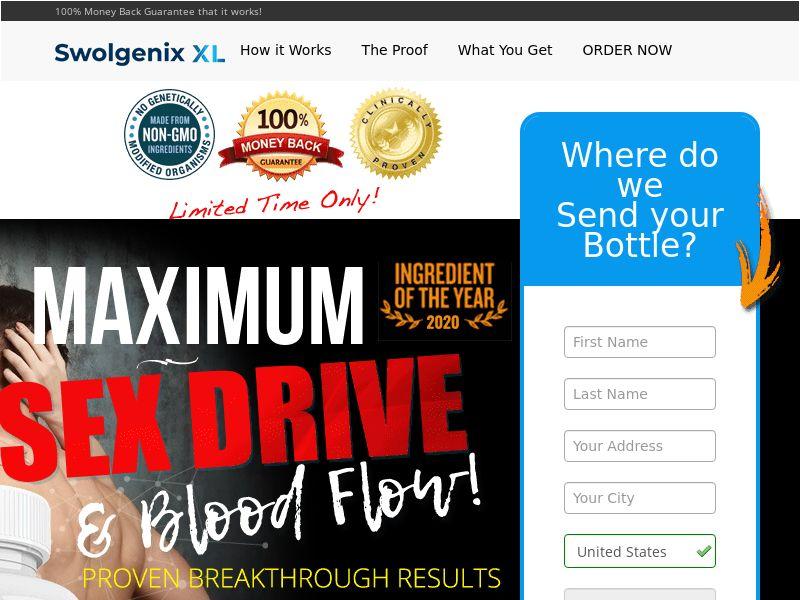 SwolGenixx XL Maximum Drive (Trial) (US) (SURVEY ALLOWED) (SMS ALLOWED)(SEO/SEARCH/BRAND BIDDING ALLOWED)