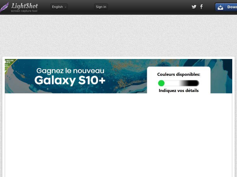 [MOB/WEB] Samsung s10+ - CC Submit/ FR