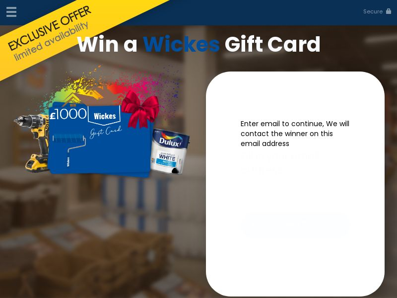 Win a wickes gift card - YOUSWEEPS UK