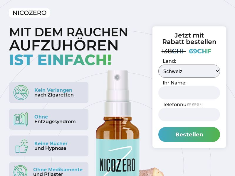 NicoZero CH - treatment for smoking