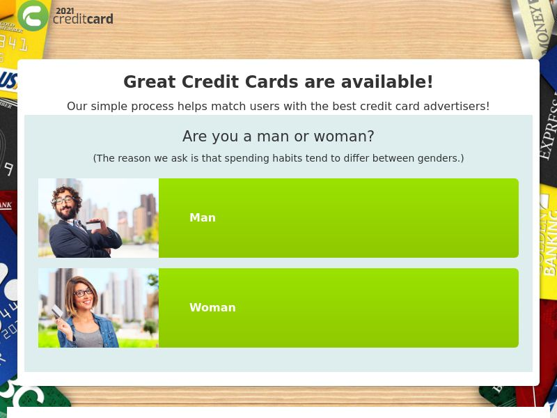 2021 Credit Cards - Email Submit