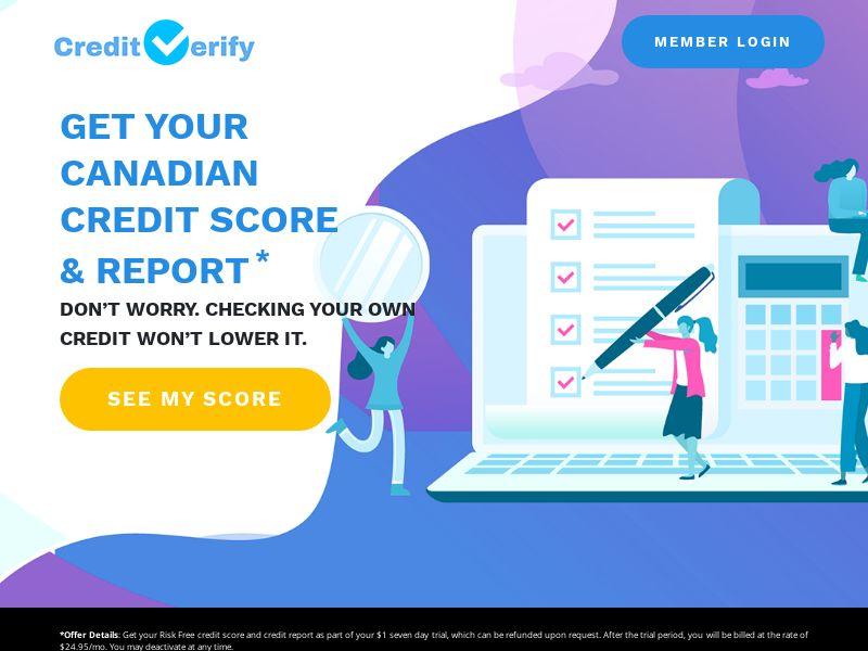 CreditVerify - 7 Day Trial - CA - Incent OK
