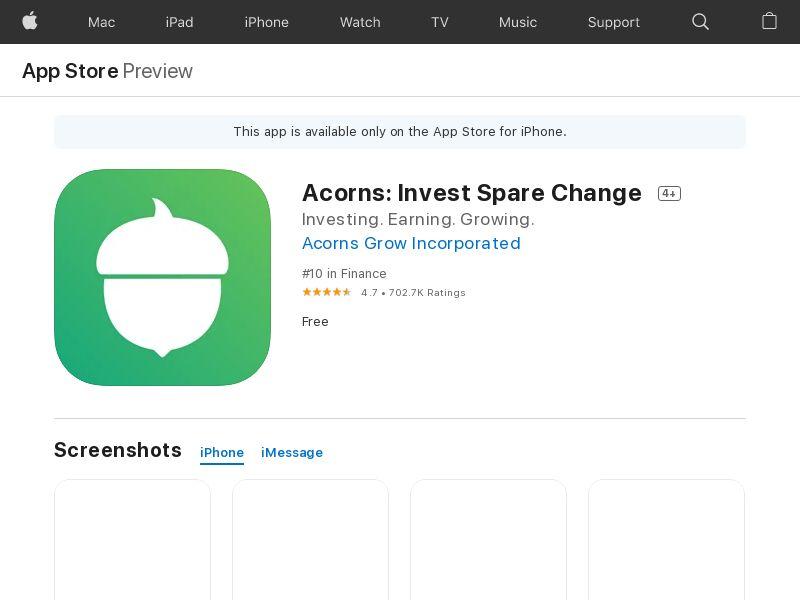 Acorns - iOS - US - CPA