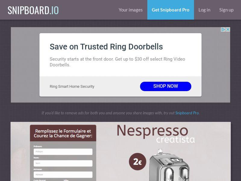BigEntry - Nespresso Creatista v1 FR - CC Submit