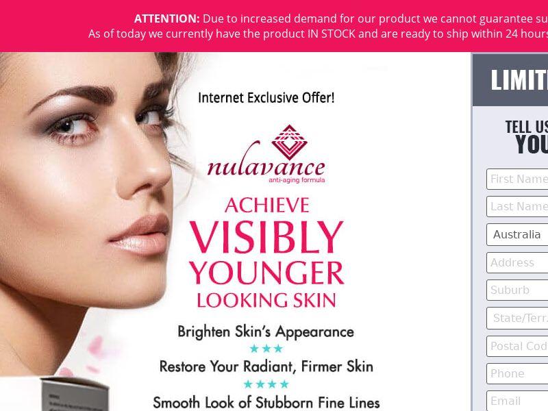 Nulavance Anti Aging Skin Cream (CC Trial) - Beauty - AU, NZ