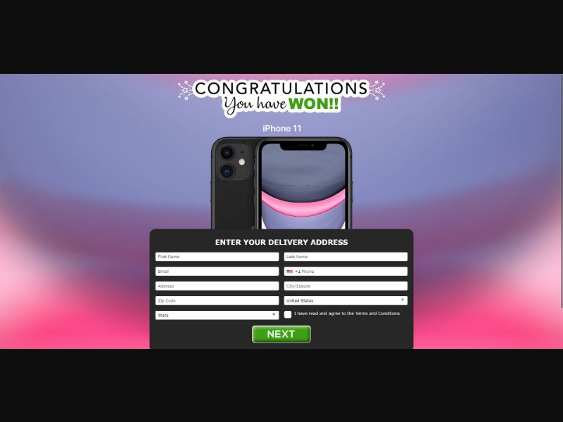 iPhone 11 - V1 - Sweepstakes & Surveys - Trial - [US]