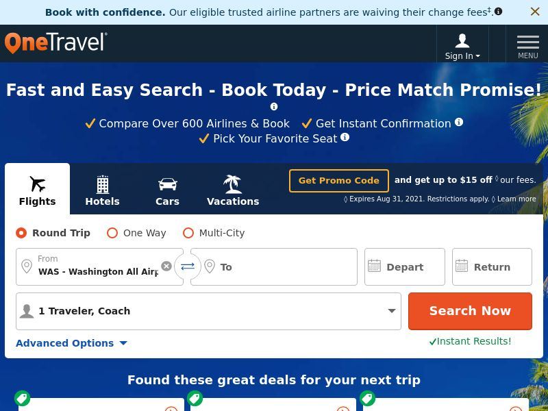 OneTravel - Flights and Hotels booking - CPA - [INTERNATIONAL]