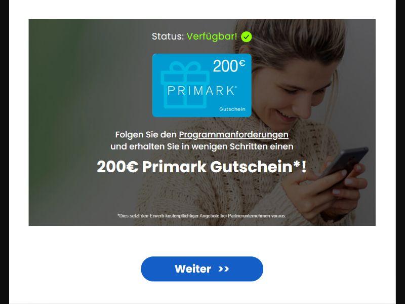 RewardsFlow - Primark Gift Card - DE - Incent OK