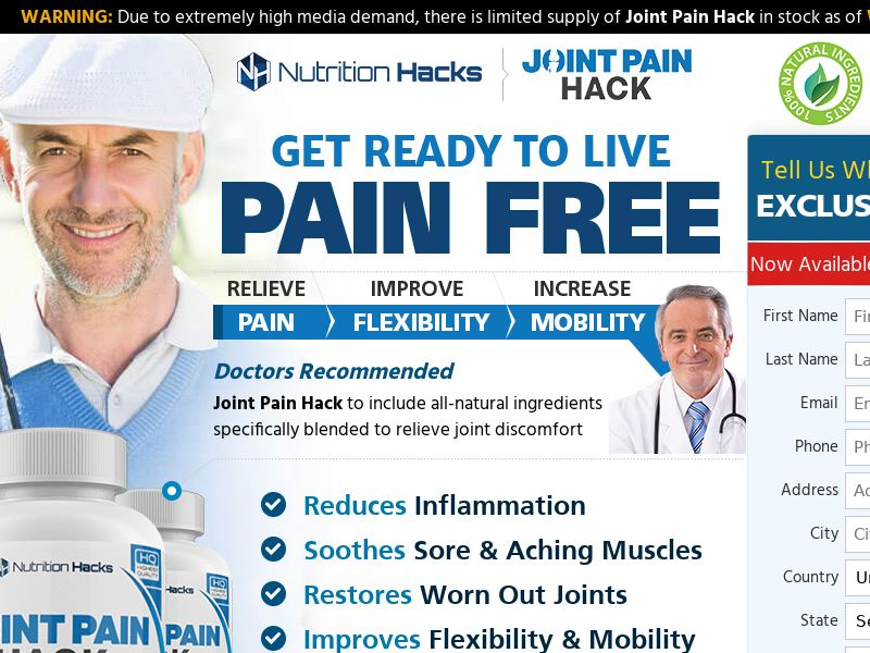 Joint Pain Hack [INTL] (Banner,Native,Search,SEO,Social,Push) - CPA {No Email,No Brand Bidding}
