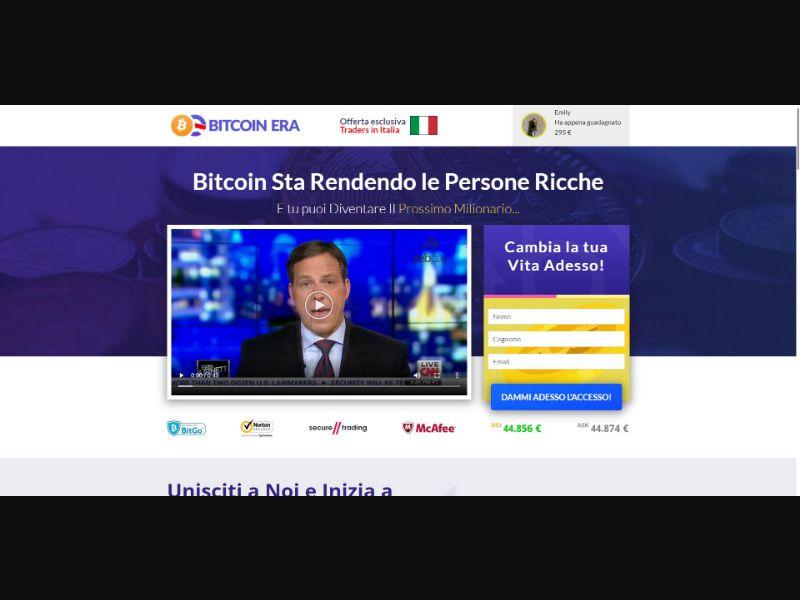 Bitcoin Era - €250 min CTC - VSL - Crypto - SS - [16 GEOs]