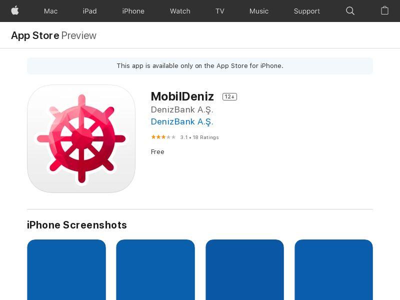 MobilDeniz iOS TR IDFA