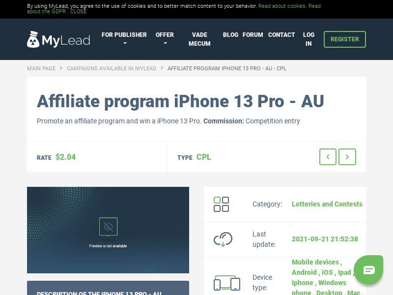 iPhone 13 Pro - AU (AU), [CPL]
