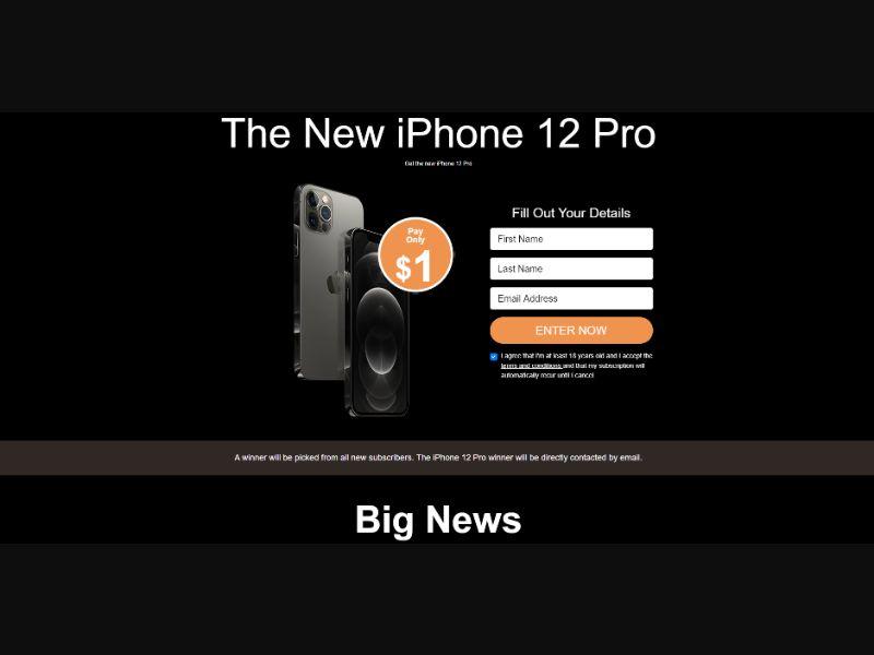 WEB+WAP IPHONE 12 PRO CC / IT / CC Submit