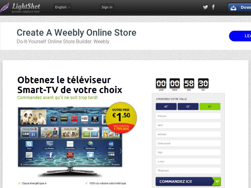 winlotsofthings Samsung TV NXCL (Sweepstake) (CC Trial) - France