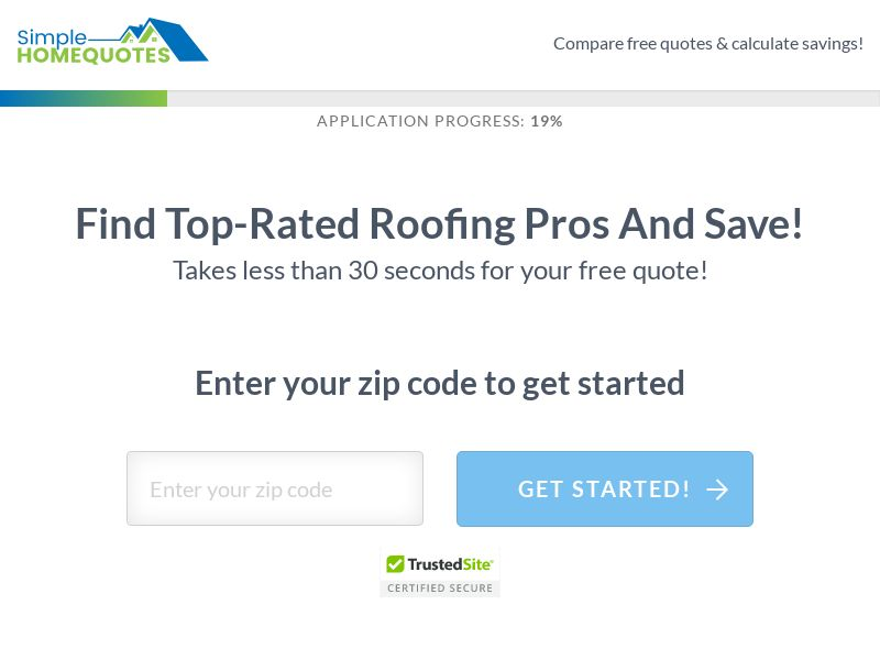 Simple Home Quotes - Roofing (US) (CPL) (Personal Approval)