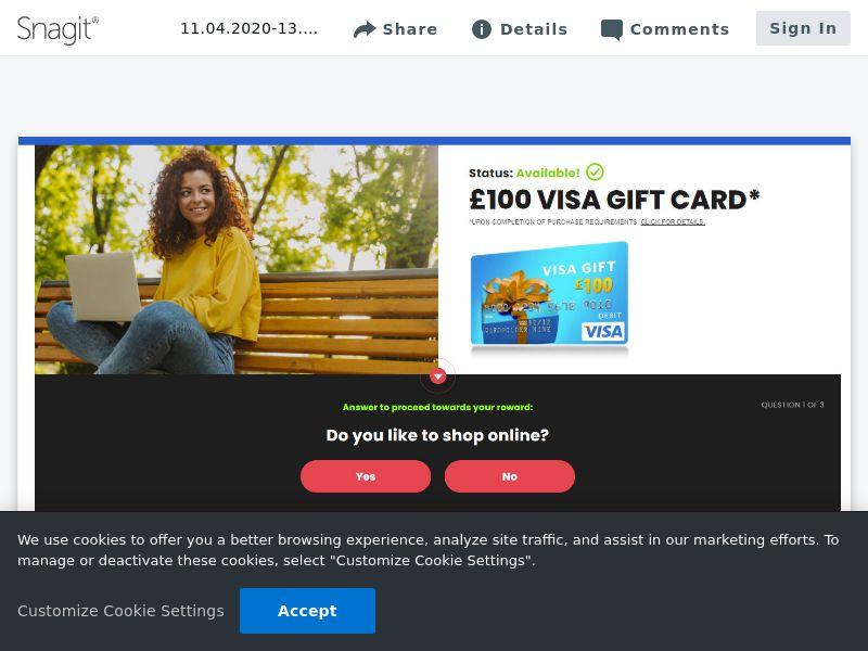 £100 Visa - SOI | UK